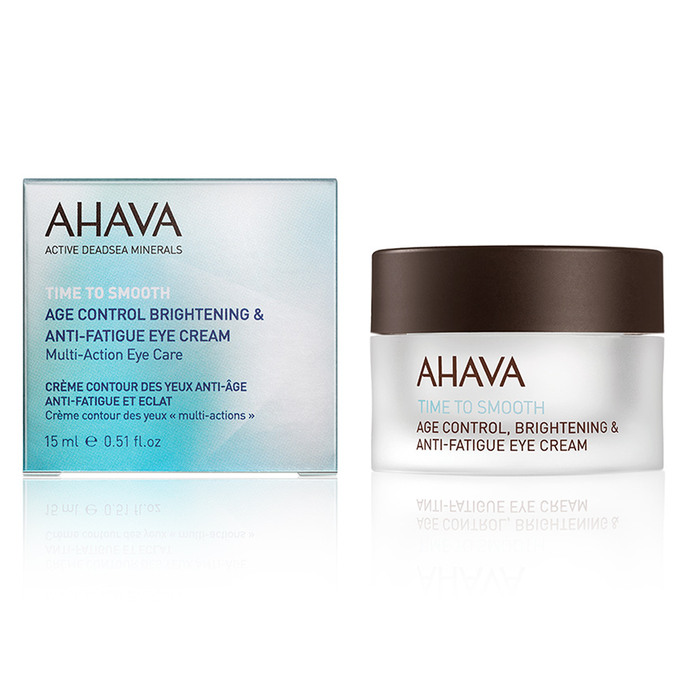 AHAVA Age Control Brightening and Anti-Fatigue Eye Cream is a lightweight and delicate gel cream formulated to improve signs of fine aging around the eye area. This formula is enriched with a 3D complexion working to reduce wrinkles up to 45 percent. The Age Control eye cream infused with natural fruit extract and vitamin C will provide your skin with 12 hours of hydration. AHAVA's eye cream is blended with 21 natural dead sea minerals and ruscus extract which will work to improve and restore skins moisture levels. Benefits: Softens fines lines with date extract and aloe vera leaf extract Formulated with Calendula and bisabol extract provide anti-inflammatory and soothing properties Hydrating gel-cream that visibly smooths fine lines around the delicate eye area [ 0.5 fl oz] Dead Sea minerals & natural compounds are used to create pure, natural products. See the full line of AHAVA products at BeautifiedYou.com Authorized AHAVA Resellers - 100% Authenticity Guaranteed