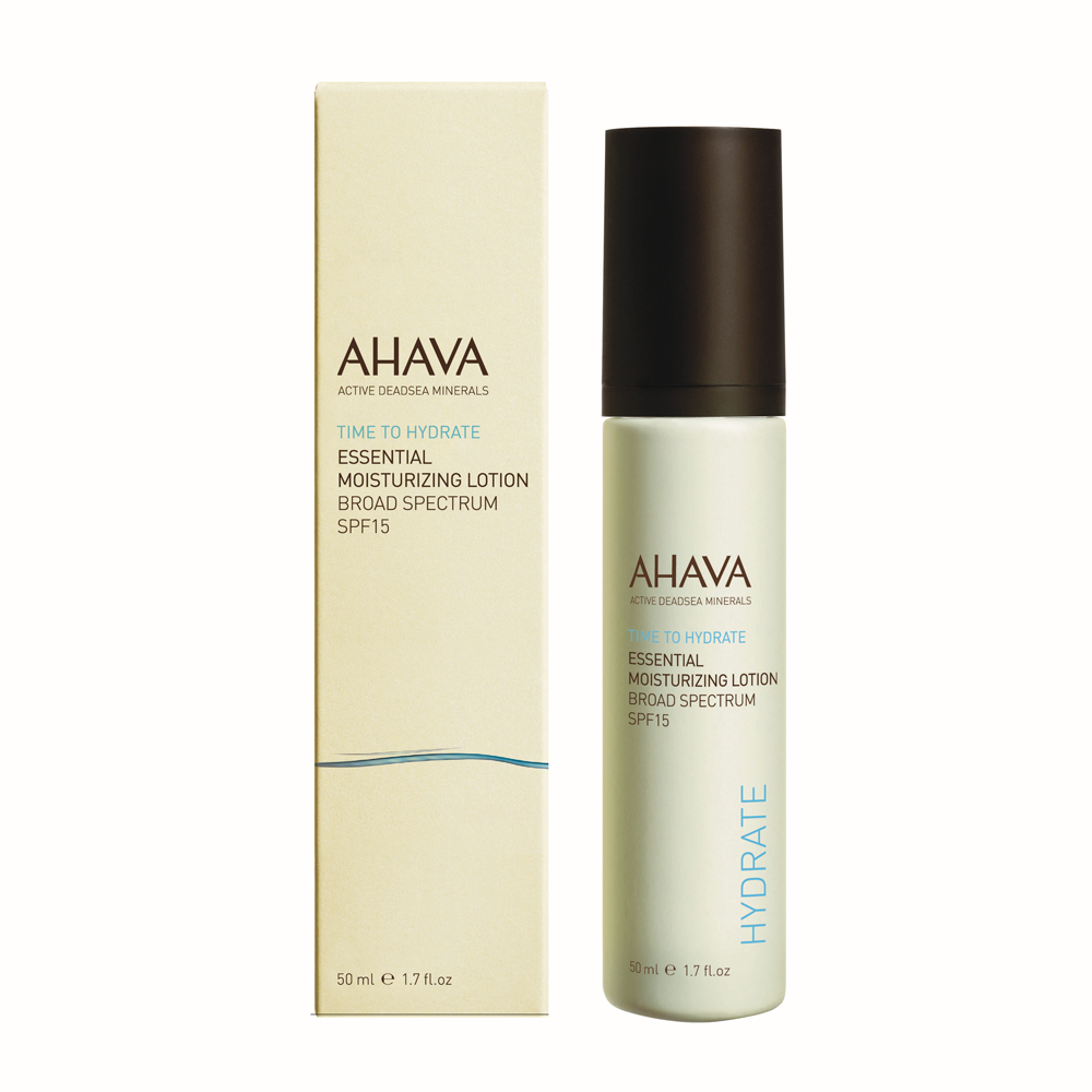AHAVA Essential Moisture Lotion Spf 15 is a powerful skin essential. This lotion is formulated with AHAVA's OsmoterTM for long lasting hydration and protection. This product is created with Urban ComplexTM and an innovative blend of minerals and exotic botanical extracts to provide skin with the utmost protection. Proven to fight environmental aggressors and other impurities. Benefits: Approved for sensitive skin Protection against premature aging Exotic botanic extracts [1.7 fl. oz] Dead Sea minerals & natural compounds are used to create pure, natural products. See the full line of AHAVA products at BeautifiedYou.com Authorized AHAVA Resellers - 100% Authenticity Guaranteed