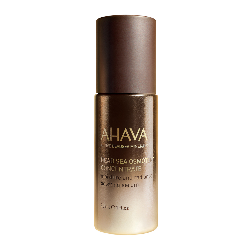 AHAVA Dead Sea Osmoter Concentrate has been designed to moisture skin intensely this serum is powered by AHAVA's OsmoterTM to ehance the Dead Sea minerals restoring skin's natural vitality. AHAVA's skin optimizing serum will work to hydrate skin to a visibly youthful apperance. This serum works to charge cellular functions and reverse the signs of aging resulting in a hydrated and radiant complexion. Benefits: Rehydrate, illuminate and recharge skin Will optimize your skin to better absorb nutrients Powered by AHAVA's OsmoterTM [1 oz] Dead Sea minerals & natural compounds are used to create pure, natural products. See the full line of AHAVA products at BeautifiedYou.com Authorized AHAVA Resellers - 100% Authenticity Guaranteed
