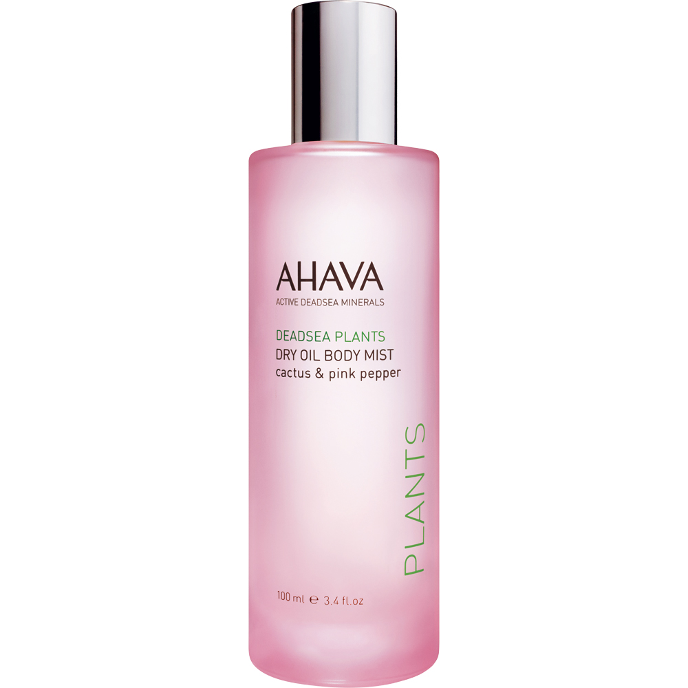 Pamper your skin with AHAVA Dry Oil Body Mist Cactus and Pink Pepper. Simply spray on this enriching oil-infused mist for smoother, more radiant skin with a lovely feminine fragrance. Infused with Dead Sea plant oils, jojoba seed oil, and dunaliella algae, skin enjoys lightweight, non-greasy hydration that feels smoother, softer, and resistant to aging. Feel fresher, freer and more radiant with every mist you spray! Benefits: Hydrates and replenishes Smoothes and softens Slows down cell degradation Promotes radiance and anti-aging Strengthens skin's natural protective barrier [ 3.4 fl oz / 100 mL ] Dead Sea minerals & natural compounds are used to create pure, natural products. See the full line of AHAVA products at BeautifiedYou.com Authorized AHAVA Resellers - 100% Authenticity Guaranteed