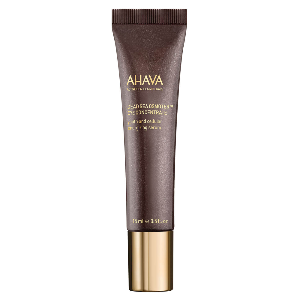 AHAVA Dead Sea Osmoter Eye Concentrate is designed to increase cellular energy and improve skin's natural detoxifying system. This serum provide greater clarity by reducing the appearance of dark circles. AHAVA's eye concentrate is infused with cucumber and Aloe vera extract to calm and nourish skin reducing puffiness. Featuring OsmoterTM to revitalize and enhance natural dead sea extracts. A tripple charged serum for your eyes to restore clarity. Benefits: 85% reported skin around the eyes felt softer and smoother Increase cellular energy and improve skin's natural detoxifying system Featuring OsmoterTM [1 oz] Dead Sea minerals & natural compounds are used to create pure, natural products. See the full line of AHAVA products at BeautifiedYou.com Authorized AHAVA Resellers - 100% Authenticity Guaranteed